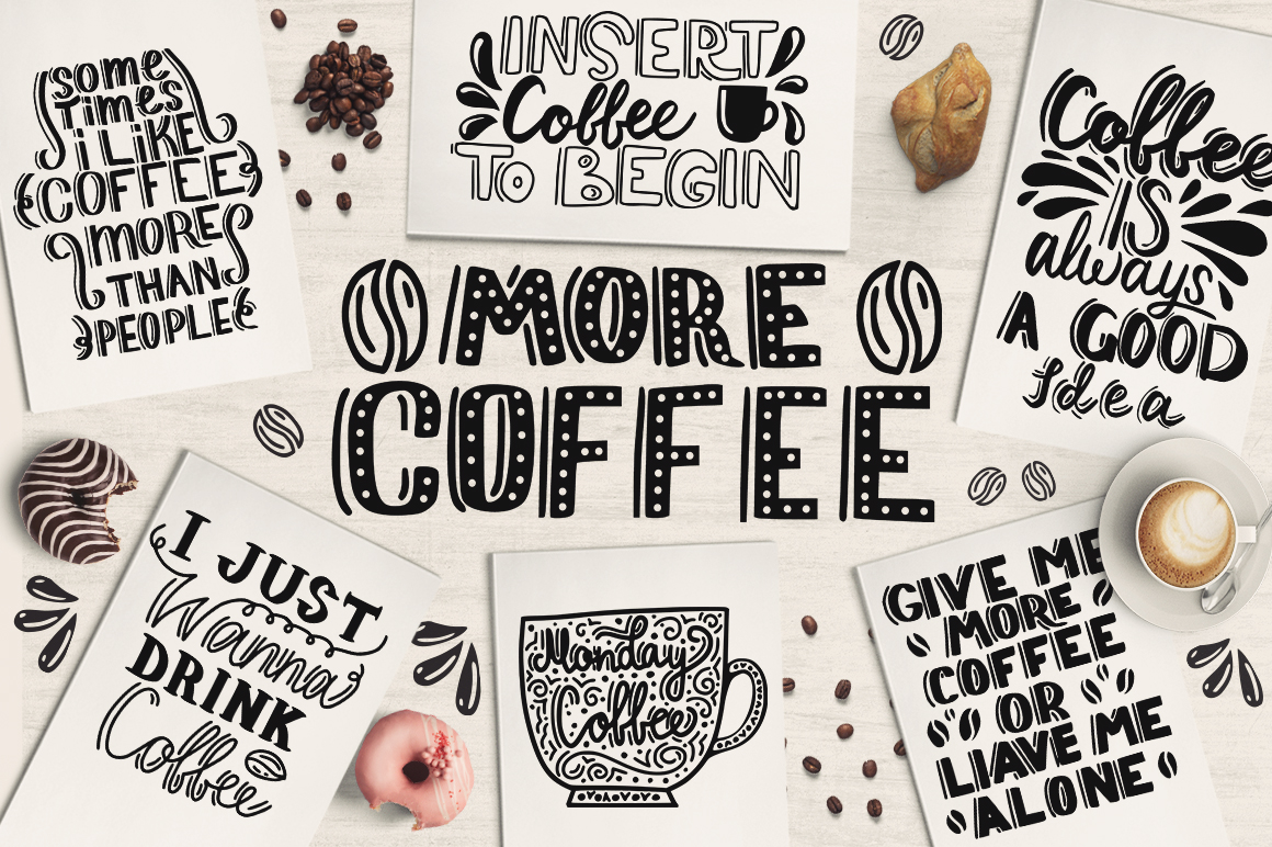 Print on Demand: Coffee | Lettering Illustration Graphic Illustrations By Gennadii ART