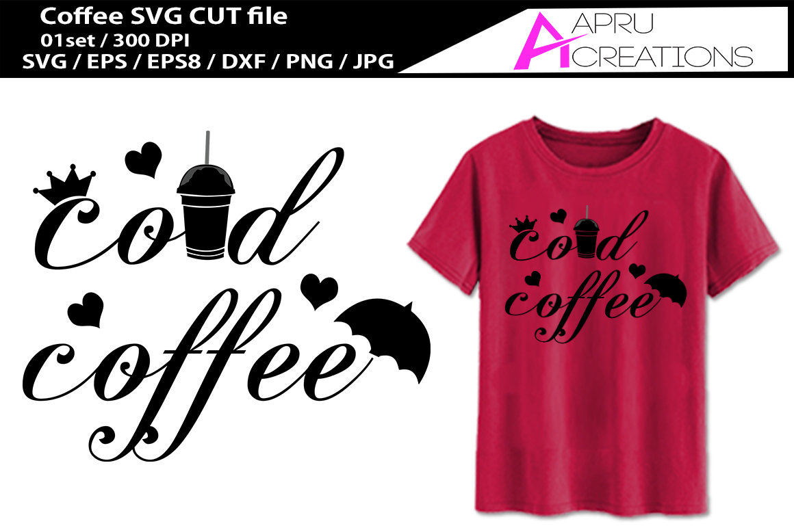 Download Free Cold Coffee Cut File Graphic By Aparnastjp Creative Fabrica for Cricut Explore, Silhouette and other cutting machines.