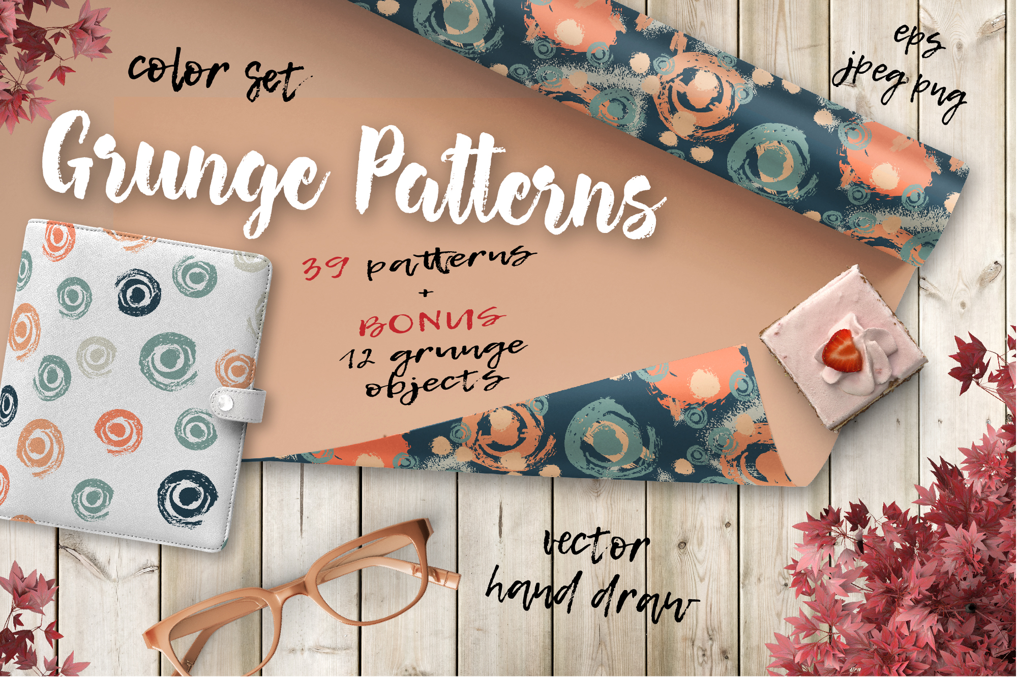Print on Demand: Color Patterns Set Graphic Illustrations By nicjulia