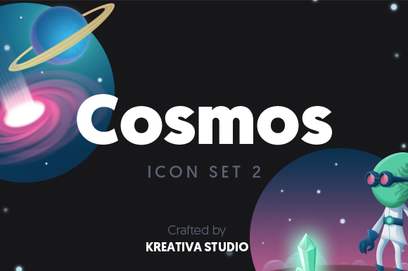 Free Cosmos Icon Set Graphic By Creative Fabrica Freebies