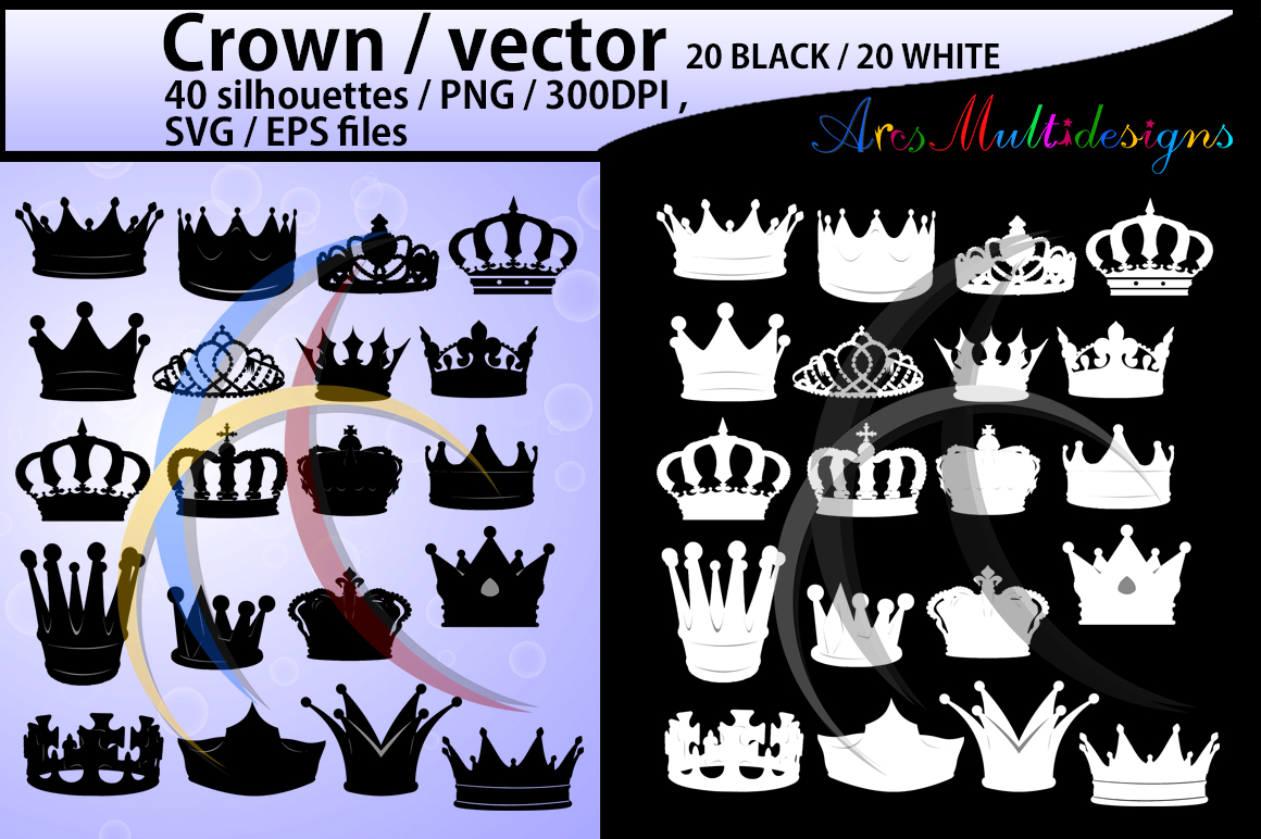 Print on Demand: Crown SVG Graphic Crafts By Arcs Multidesigns