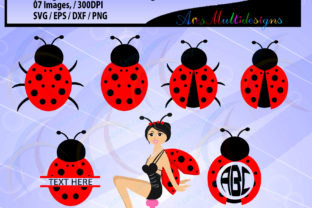 Download Free Cute Lady Bug Clipart Graphic By Arcs Multidesigns Creative for Cricut Explore, Silhouette and other cutting machines.