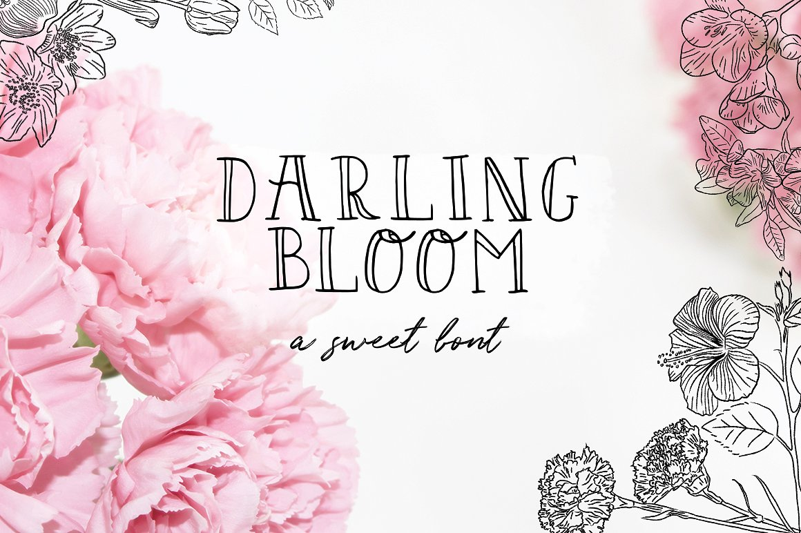 Print on Demand: Darling Bloom Serif Schriftarten von Salt & Pepper Designs