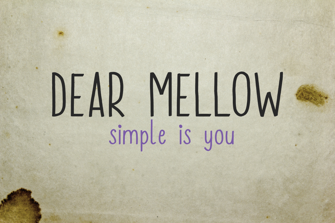 Print on Demand: Dear Mellow Sans Serif Font By LebahStudio
