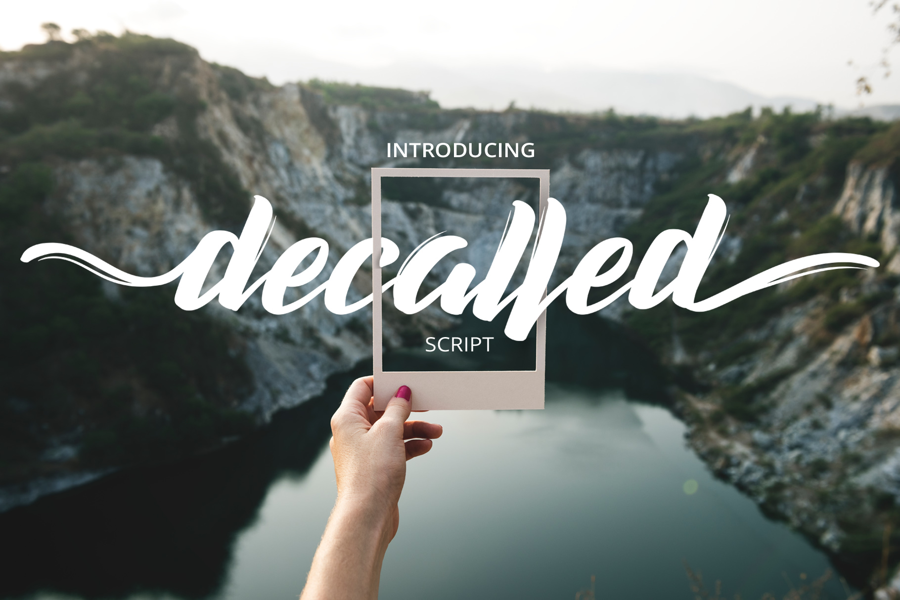 Decalled Script Script & Handwritten Font By semuthitam