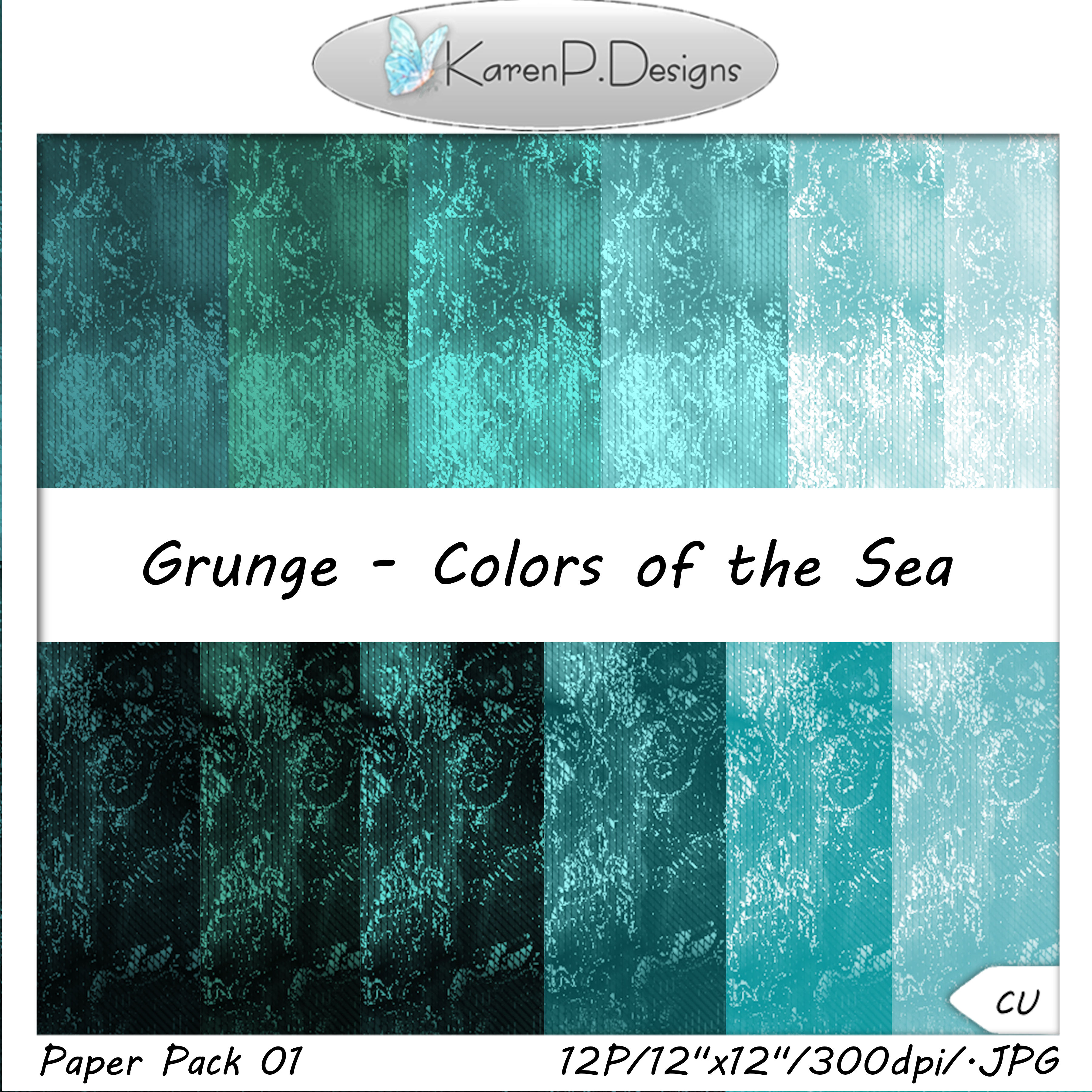 Download Free Digital Paper Pack Grunge Colors Of The Sea Graphic By Karenp for Cricut Explore, Silhouette and other cutting machines.