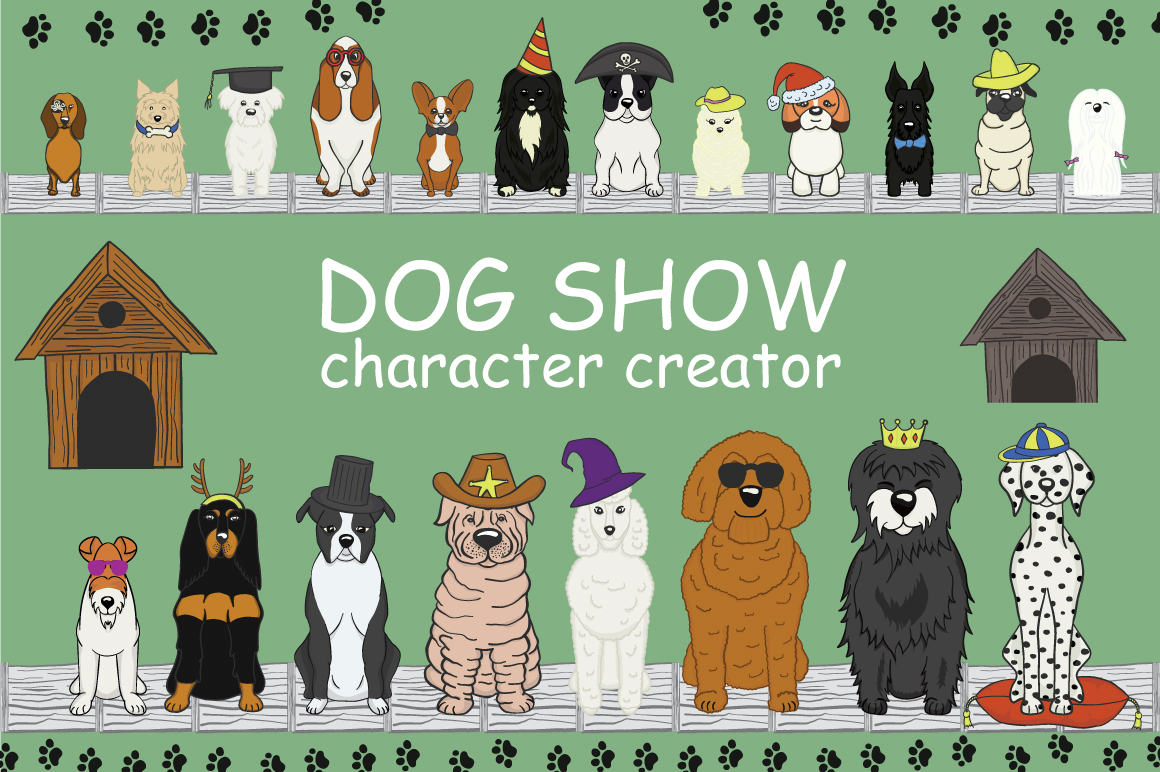 Print on Demand: Dog Show Character Creator Graphic Illustrations By Gennadii ART