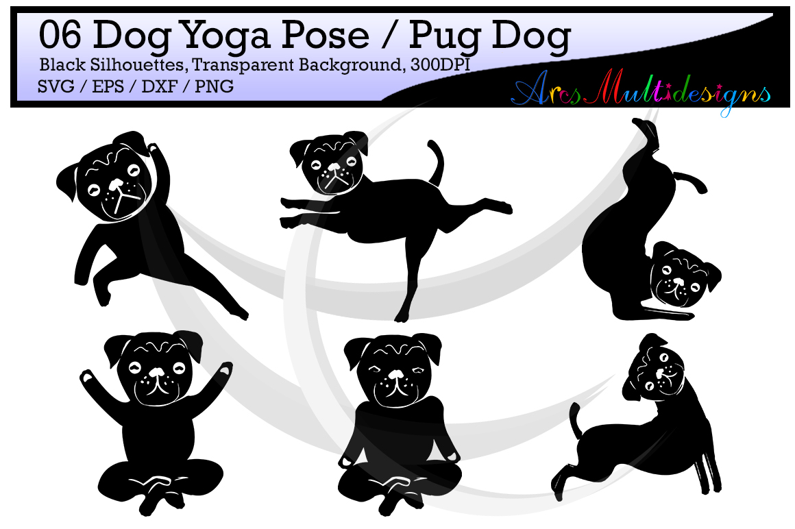 Print on Demand: Dog Yoga Silhouette Graphic Crafts By Arcs Multidesigns