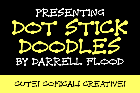 Print on Demand: Dot Stick Doodles Display Font By Dadiomouse