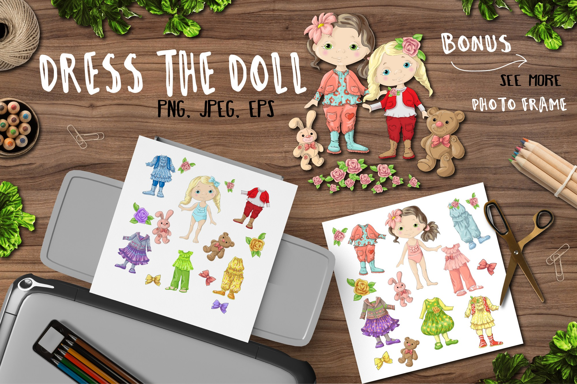 Print on Demand: Dress the Doll Graphics Pack Graphic Illustrations By nicjulia