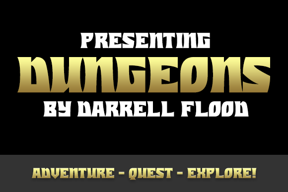 Print on Demand: Dungeons Display Font By Dadiomouse