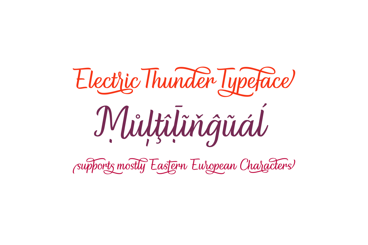 Print on Demand: Electric Thunder Script & Handwritten Font By The Traveling Fox - Image 5
