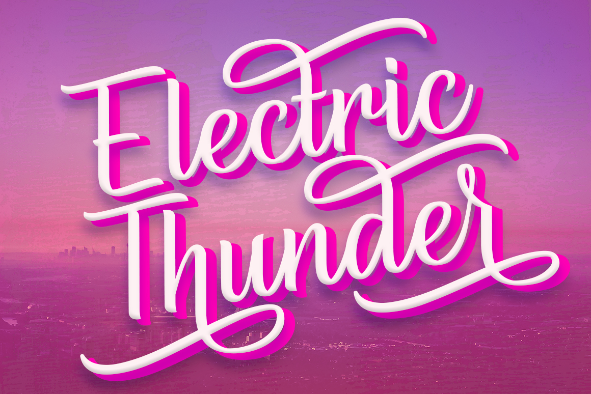 Print on Demand: Electric Thunder Script & Handwritten Font By The Traveling Fox