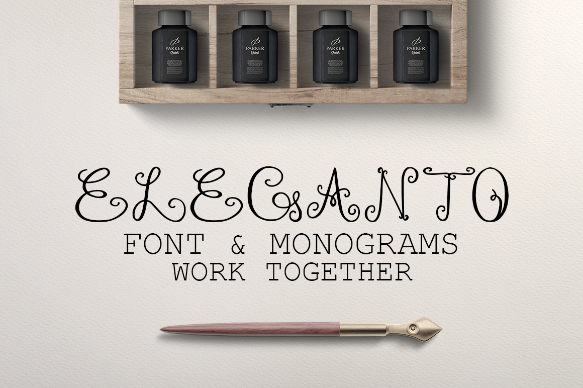 Eleganto - Monogram Font Display Font By InkandBrush