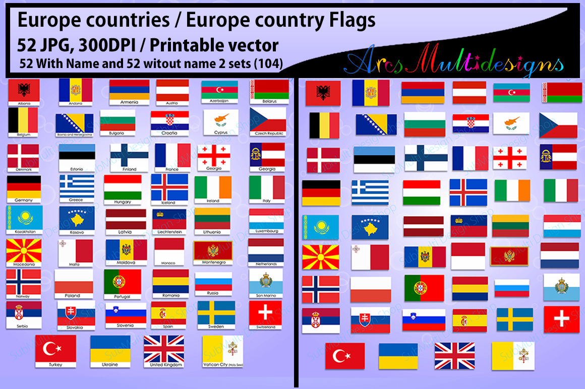 Europe Countries Graphic by Arcs Multidesigns - Creative ... - photo#29