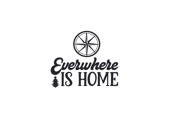 Everywhere is Home Travel Craft Cut File By Creative Fabrica Crafts