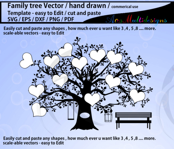 Family Tree Clipart Svg Template Graphic By Arcs