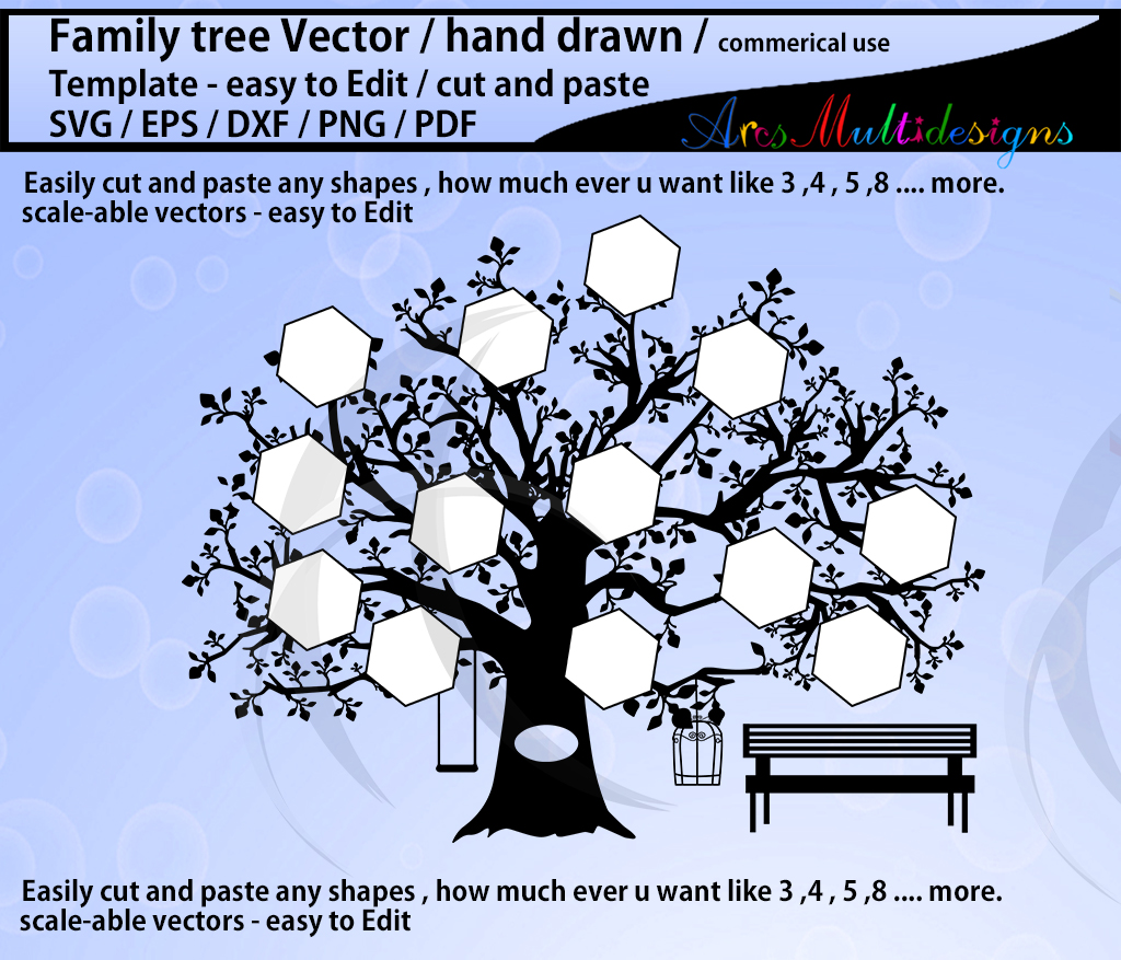 Download Free Family Tree Clipart Svg Template Graphic By Arcs Multidesigns SVG Cut Files