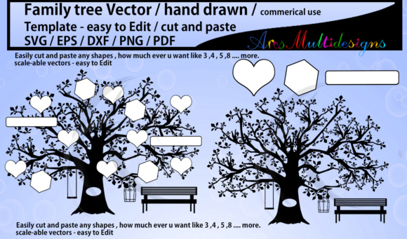 Family Tree Clipart Svg Template Graphic By Arcs Multidesigns