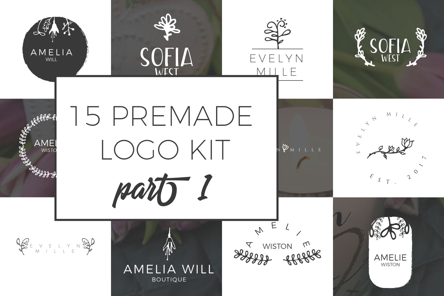 Print on Demand: Feminine Premade Logo Kit Part 1 Graphic Logos By Sintegra