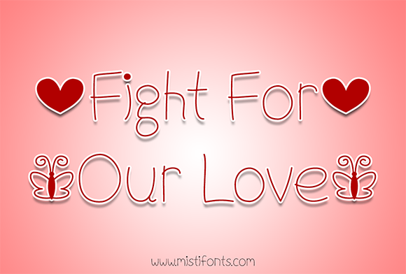 Print on Demand: Fight for Our Love Script & Handwritten Font By Misti