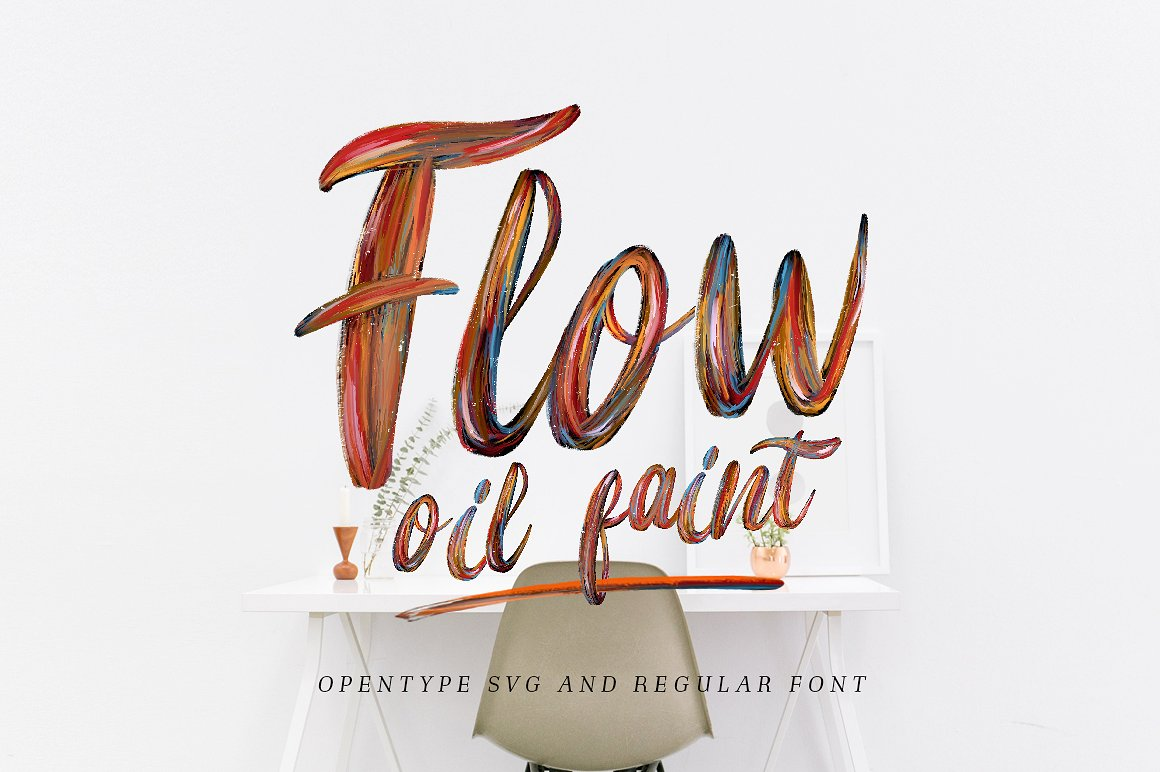 Flow Font By bloomxxvi