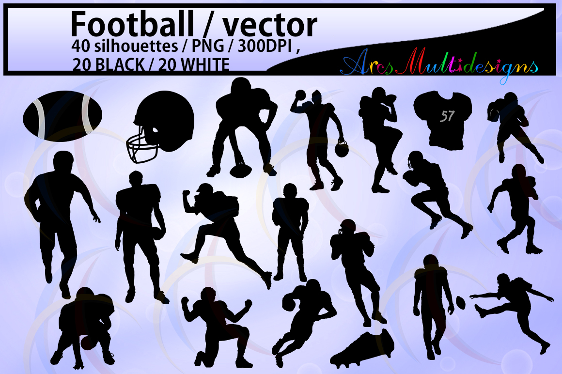 Print on Demand: Football Silhouette Graphic Crafts By Arcs Multidesigns