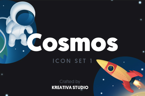 Cosmos Icon Set Graphic By Creative Fabrica Freebies