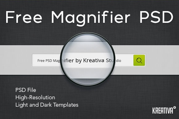 Free Magnifier PSD Graphic By Creative Fabrica Freebies