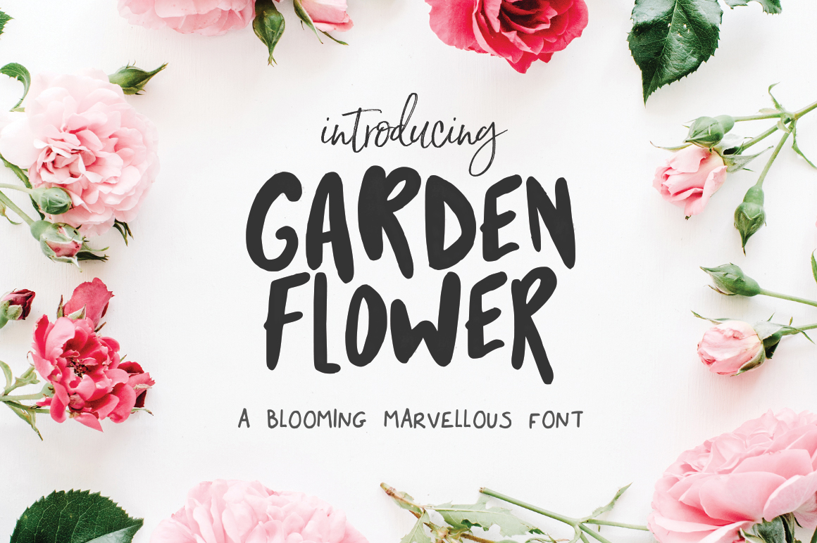 Print on Demand: Garden Flower Display Font By Salt & Pepper Designs