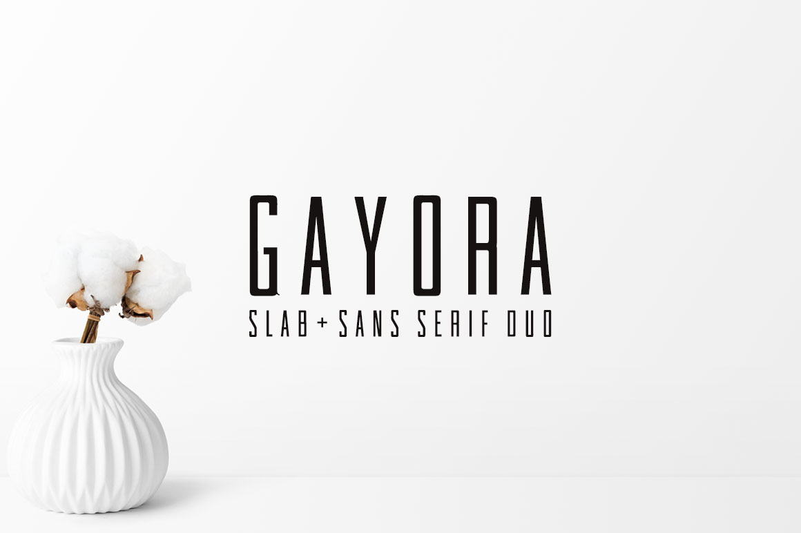 Print on Demand: Gayora Slab Serif Font By Creative Tacos - Image 1