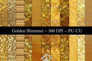 Golden Shimmer CU Paper Set Graphic By Sojournstar