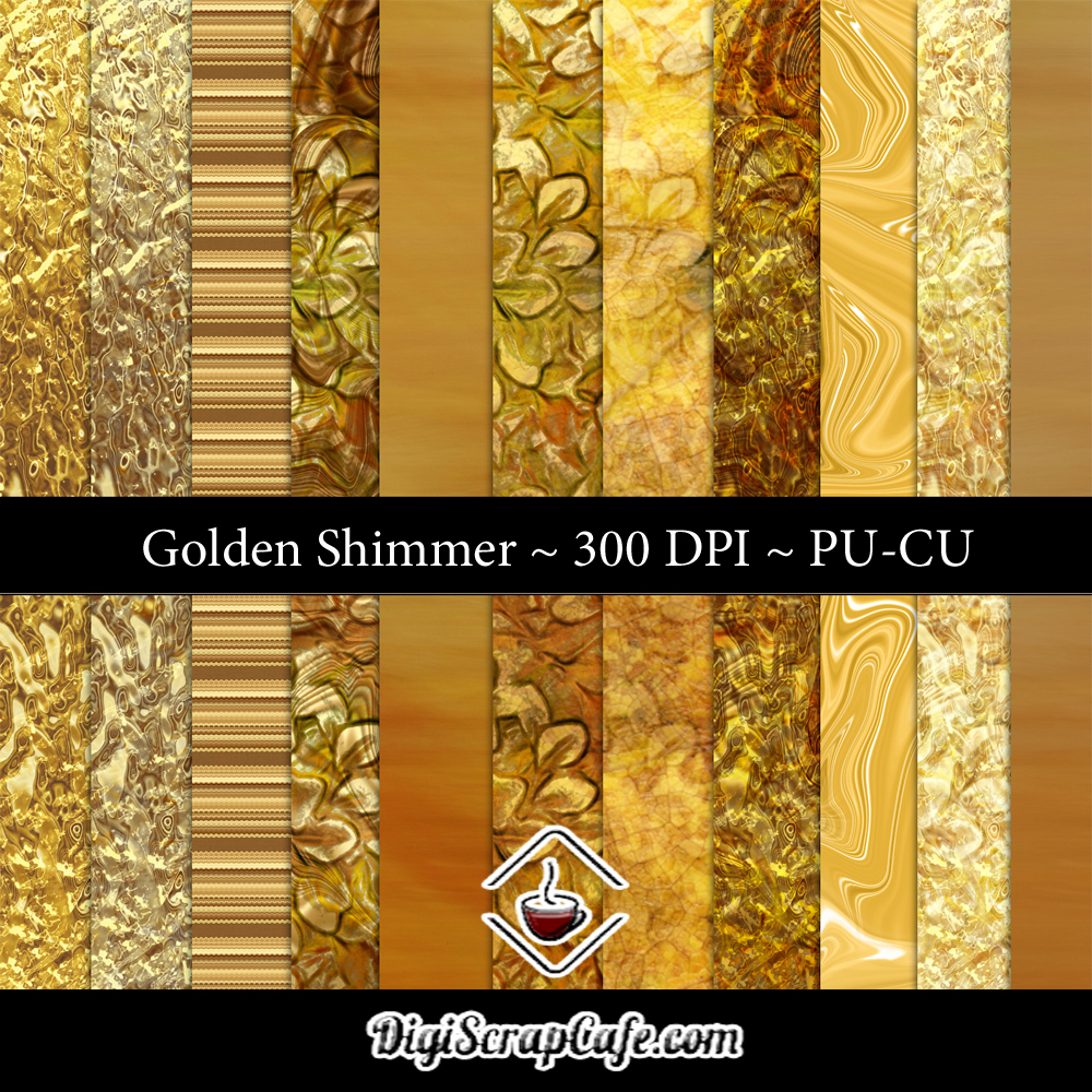 Golden Shimmer CU Paper Set Graphic By Sojournstar Image 1