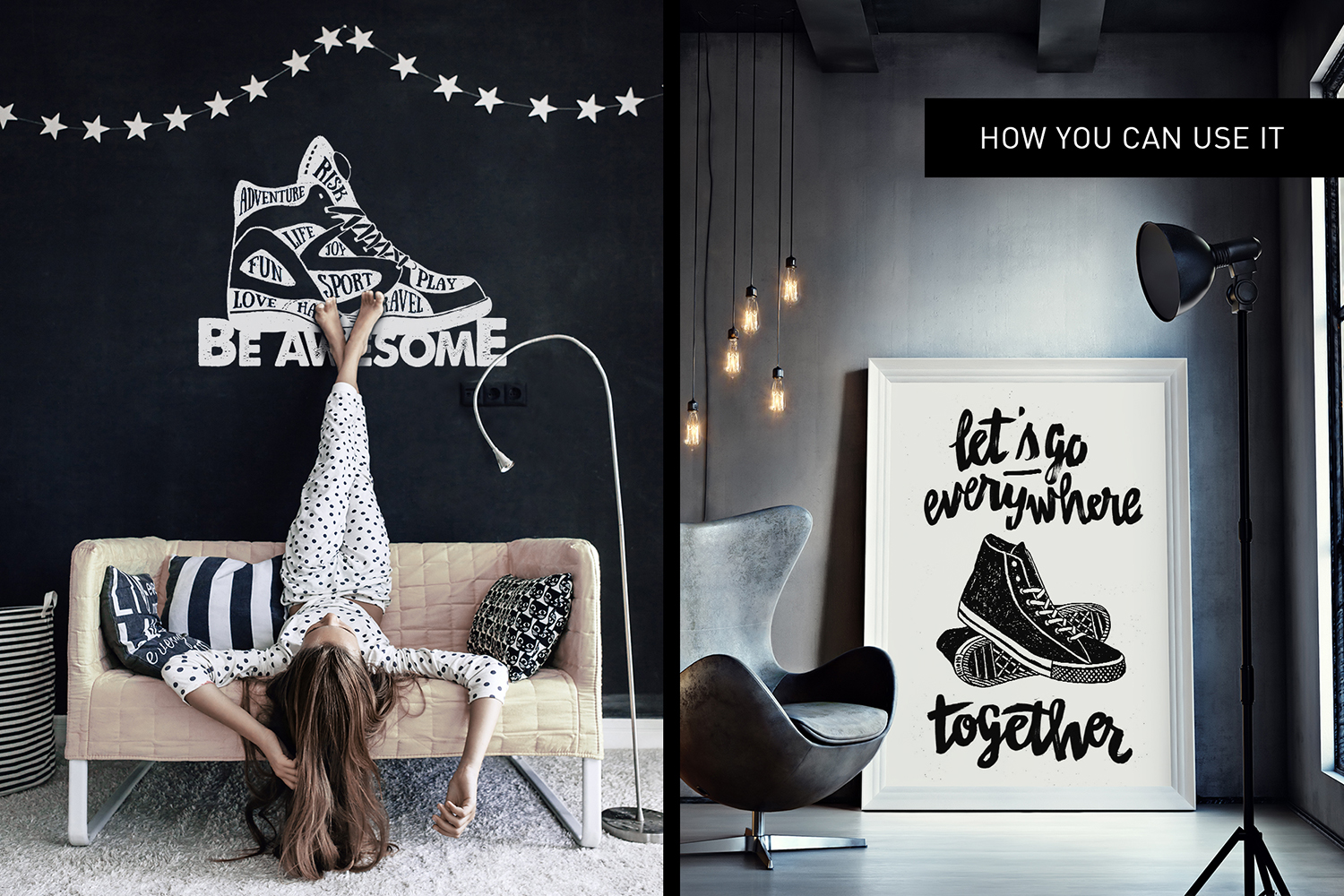 Print on Demand: Good Shoes - 8 Inspirational Badges Graphic Logos By Cosmic Store - Image 15