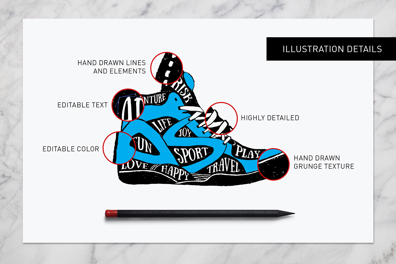 Print on Demand: Good Shoes - 8 Inspirational Badges Graphic Logos By Cosmic Store - Image 4