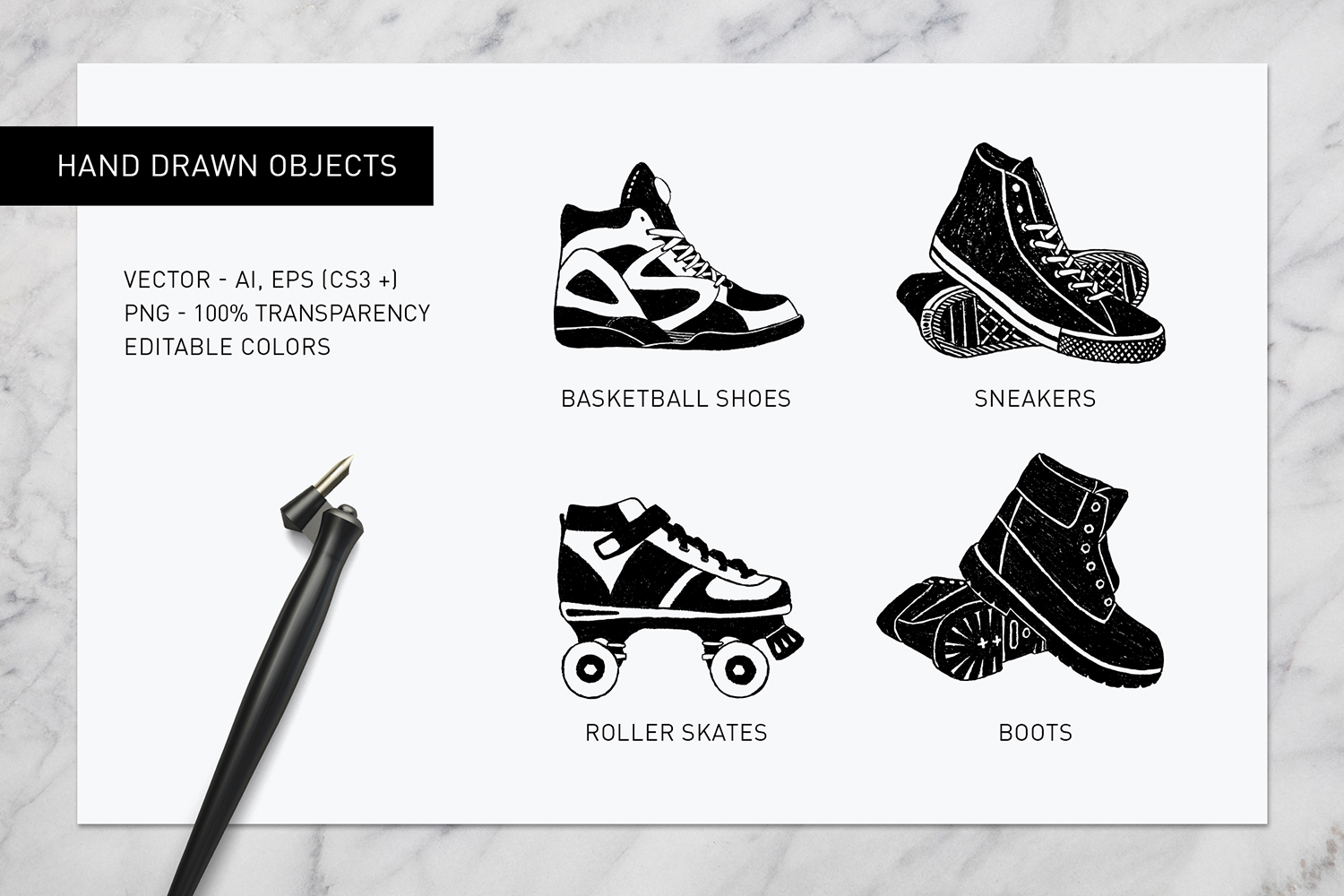 Print on Demand: Good Shoes - 8 Inspirational Badges Graphic Logos By Cosmic Store - Image 10