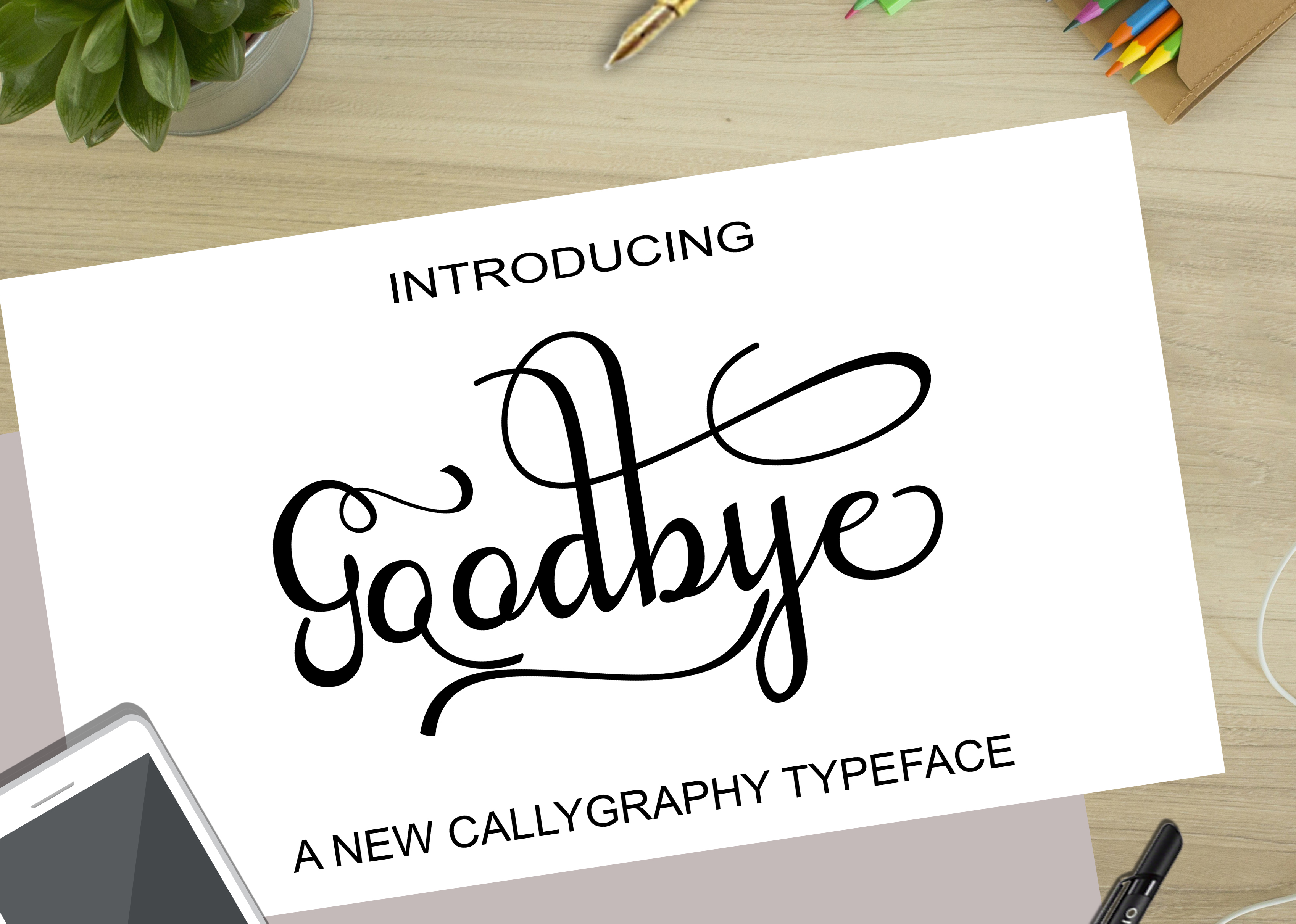 Goodbye Script & Handwritten Font By art design