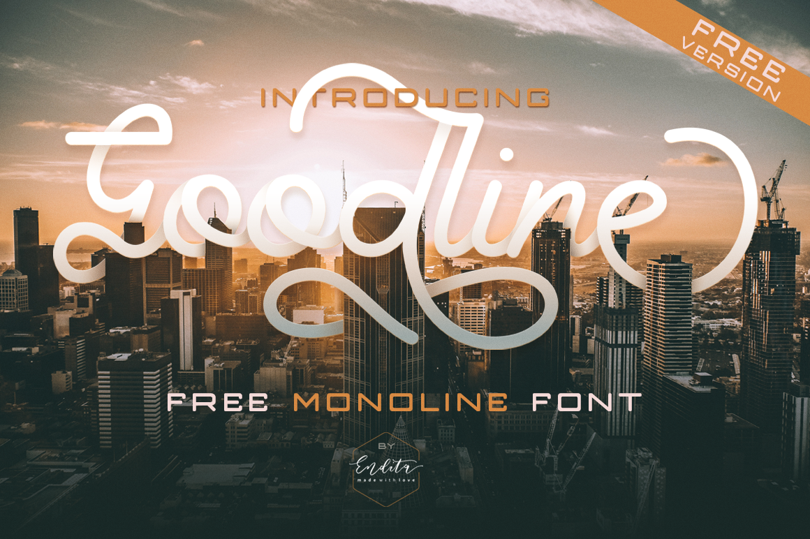 Print on Demand: Goodline Free Version Font By Telllu