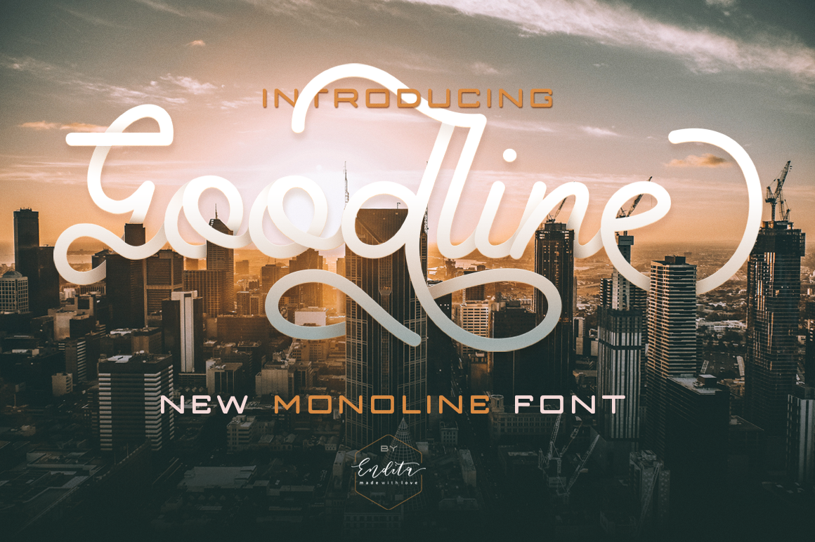 Download Free Goodline Monoline Font Font By Telllu Creative Fabrica for Cricut Explore, Silhouette and other cutting machines.