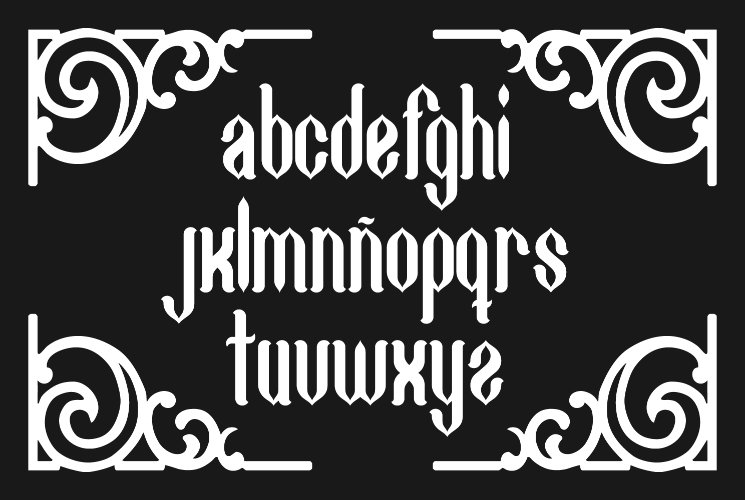 Print on Demand: Gothycal Blackletter Font By TypEra - Image 3