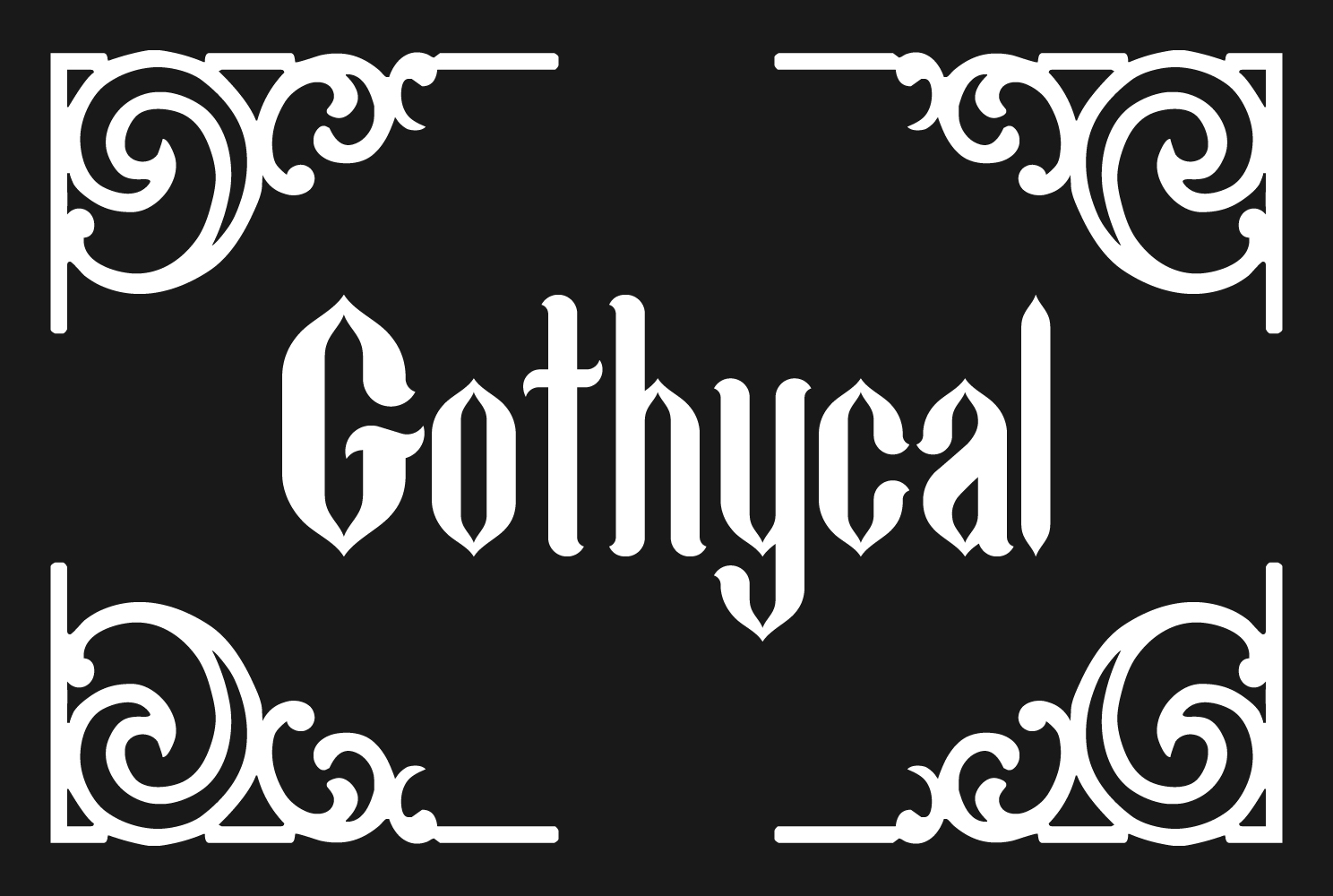 Print on Demand: Gothycal Blackletter Font By TypEra