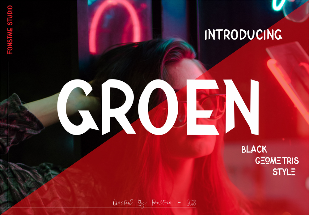 Print on Demand: Groen Display Font By ed.creative