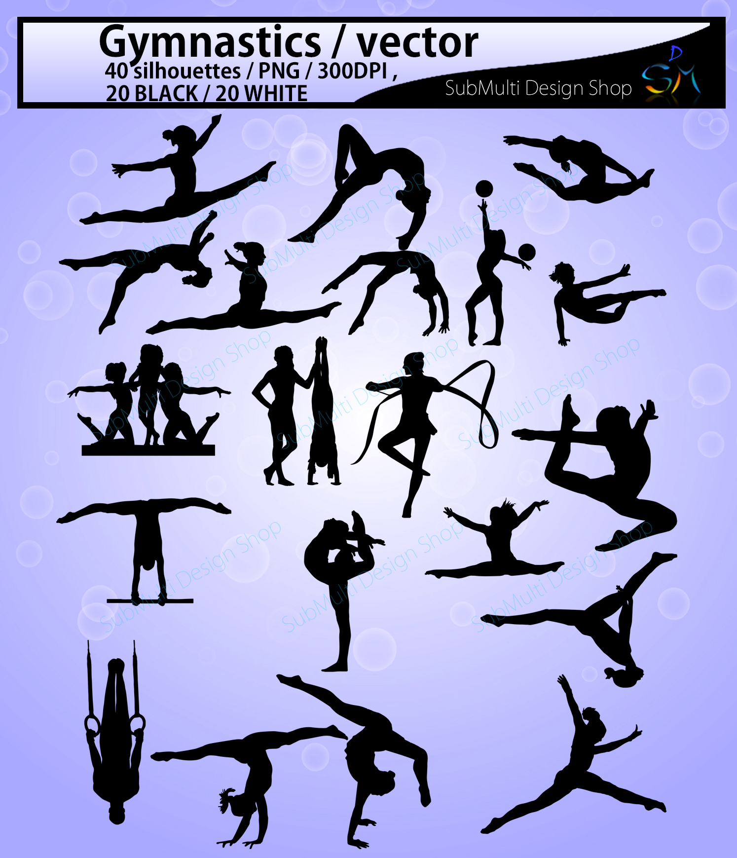 Download Free Gymnastics Silhouette Graphic By Arcs Multidesigns Creative for Cricut Explore, Silhouette and other cutting machines.