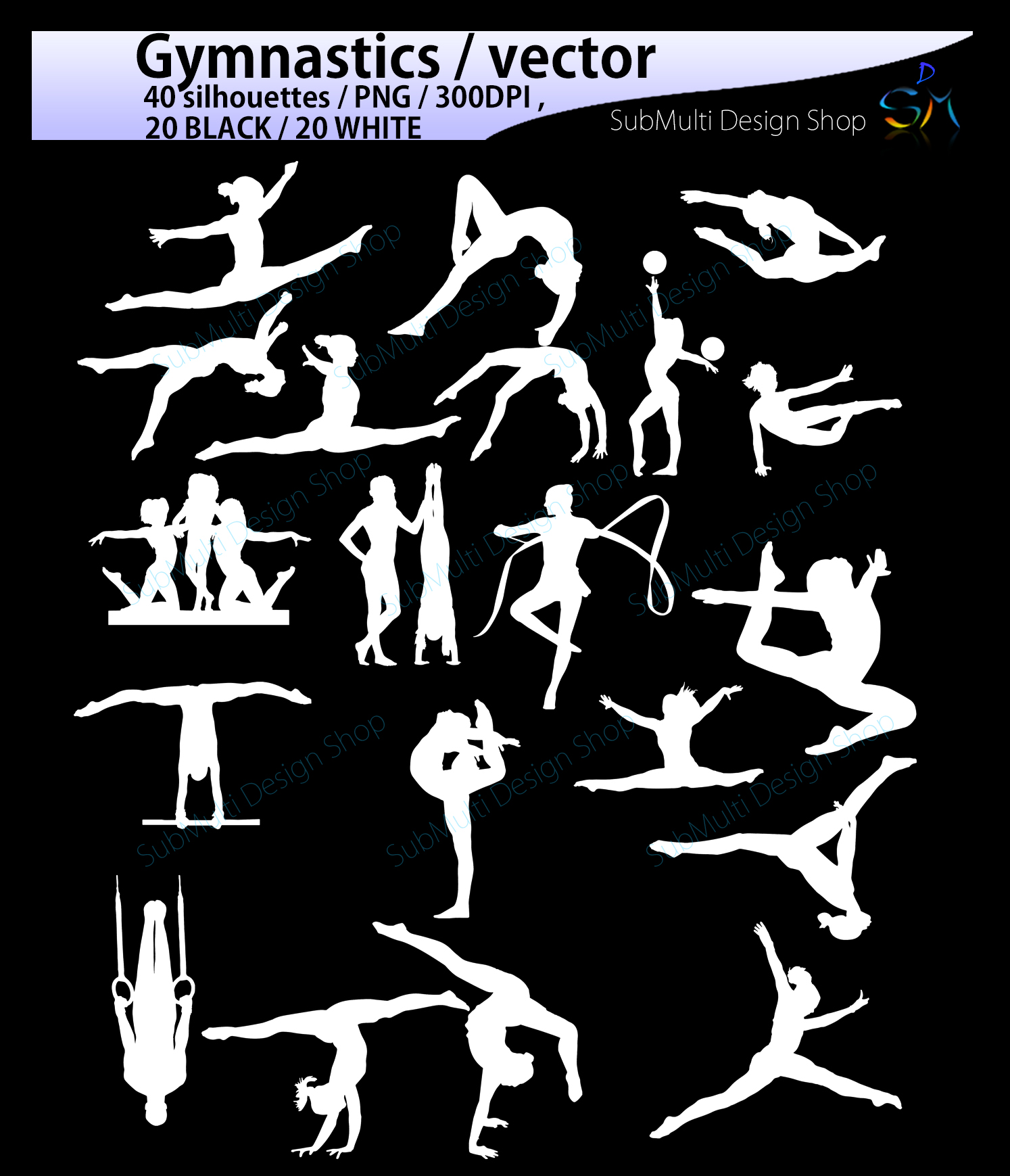 Print on Demand: Gymnastics Silhouette SVG Graphic Crafts By Arcs Multidesigns - Image 3