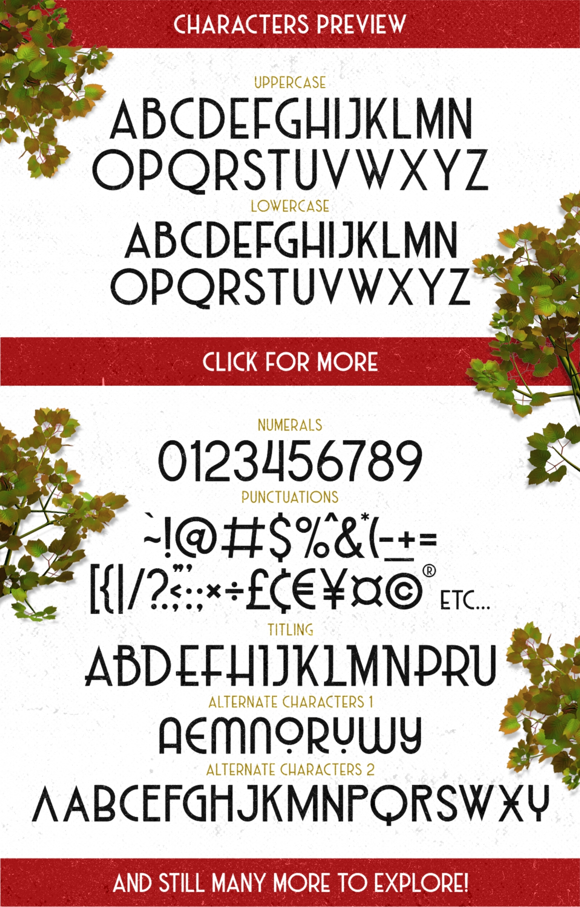 Print on Demand: Haarlem Deco Display Font By Fontdation - Image 9