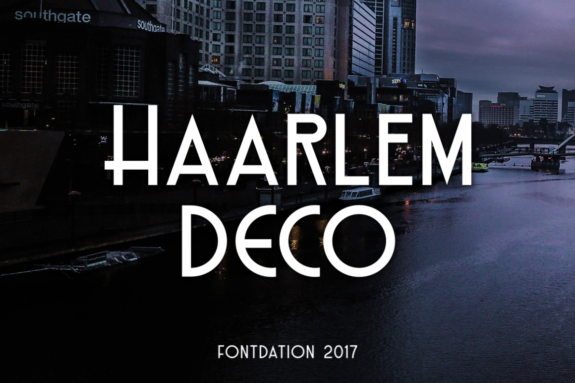 Print on Demand: Haarlem Deco Display Font By Fontdation - Image 1