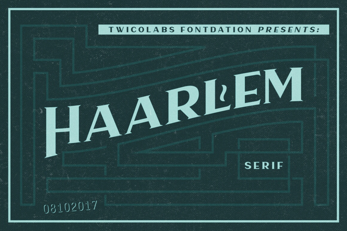 Print on Demand: Haarlem Serif Display Font By Fontdation