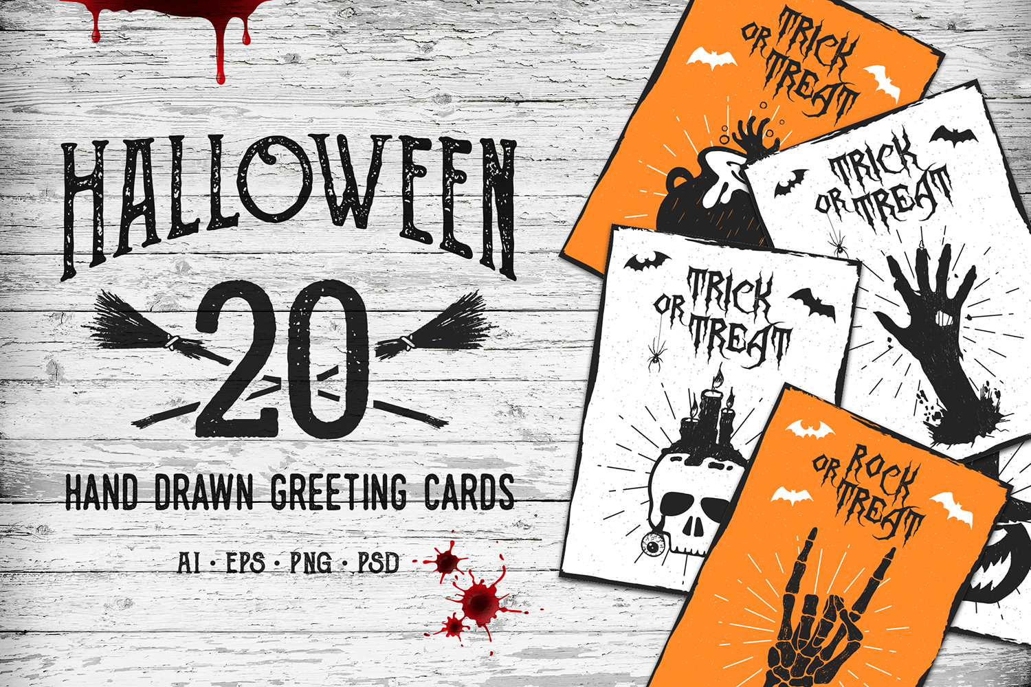 Print on Demand: Halloween - 20 Greeting Cards Graphic Crafts By Cosmic Store