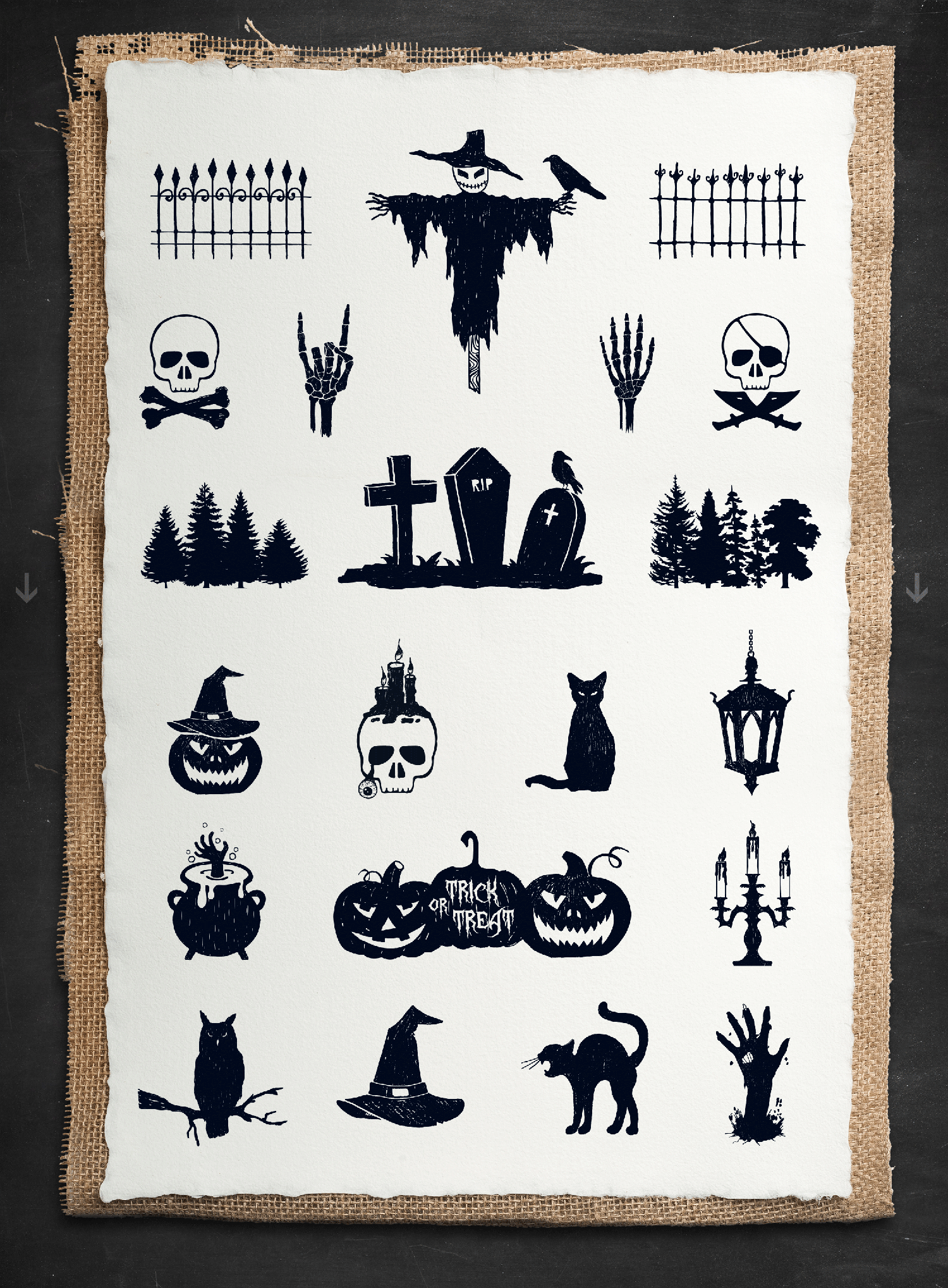 Print on Demand: Halloween - 50 Hand Drawn Objects Graphic Illustrations By Cosmic Store - Image 3