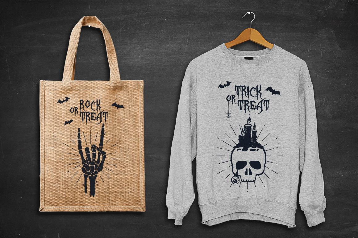 Print on Demand: Halloween - 50 Hand Drawn Objects Graphic Illustrations By Cosmic Store - Image 5